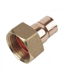 End Feed Straight Tap Connector - 22mm x 3/4""