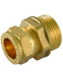 Compression Male Iron Coupler - 8mm x 1/4""