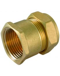 Compression Female Iron Coupler - 8mm x 1/4""