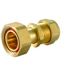 Compression Straight Tap Connector - 15mm