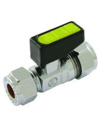 CxC Chrome Plated Mini Bore Gas Valve - 10mm x 8mm