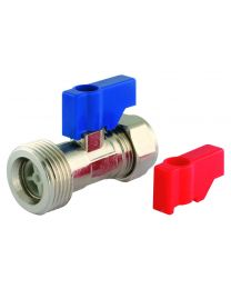 Washing Machine Valve With Check - 15mm x 3/4""