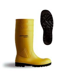 Yellow Acifort Heavy Duty Full Safety Wellington