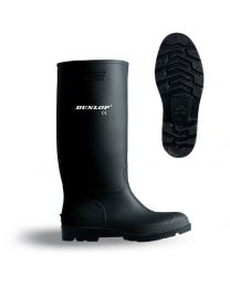 Black Dunlop Pricemaster Wellingtons