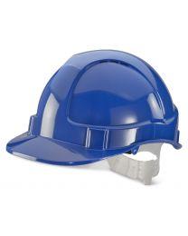 Economy Vented Safety Helmet (Blue)