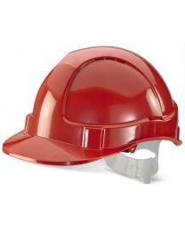 Economy Vented Safety Helmet (Red)
