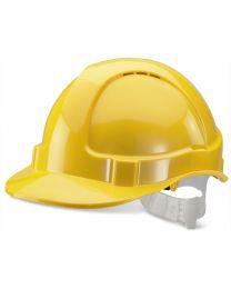 Economy Vented Safety Helmet (Yellow)