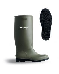 Green Dunlop Pricemaster Wellingtons