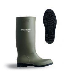 Green Dunlop Pricemaster Wellingtons