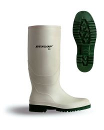 White Dunlop Pricemaster Wellingtons