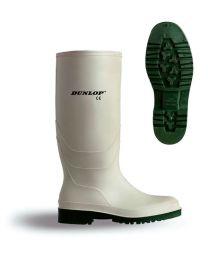 White Dunlop Pricemaster Wellingtons