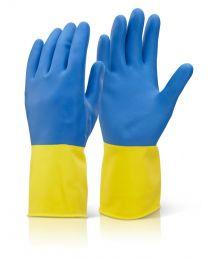 Bi-Colour Heavyweight Latex Gloves