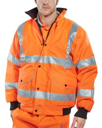 Orange B-Dri Super Bomber Jacket (Non-Breathable)