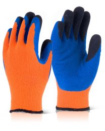 Orange Latex Thermo-Star Fully Dipped Thermal Gloves