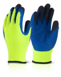 Yellow Latex Thermo-Star Fully Dipped Thermal Gloves