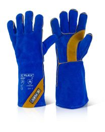 Cat II Blue & Gold Welder Gloves