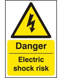Danger Electric Shock Risk (Self adhesive vinyl)