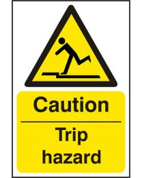 Caution Trip Hazard (Self adhesive vinyl)