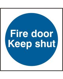 Fire door Keep shut (Rigid PVC)