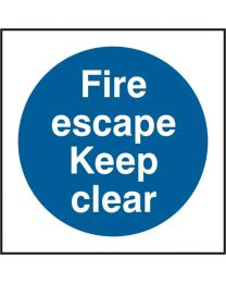 Fire escape Keep clear (100mm)