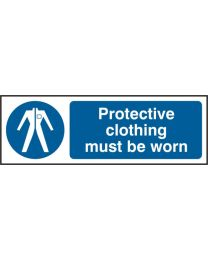 Protective clothing must be worn (Self adhesive vinyl)