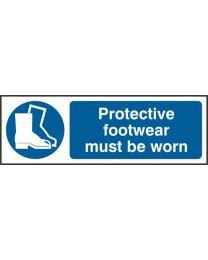 Protective footwear must be worn (Self adhesive vinyl)
