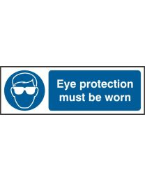 Eye protective must be worn (Self adhesive vinyl)