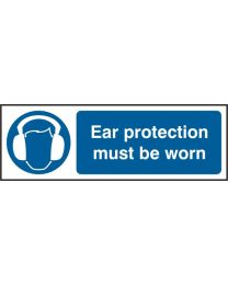 Ear protective must be worn (Self adhesive vinyl)