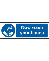 Now wash your hands (Self adhesive vinyl)