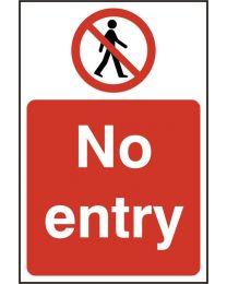 No entry (Self adhesive vinyl)