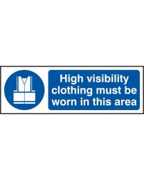 High visibility clothing must be worn in this area (Self adhesive vinyl)