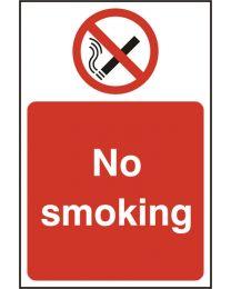 No smoking (Rigid PVC)