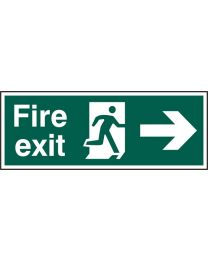 Fire exit (Man arrow right)