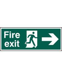 Fire exit (Man arrow right)