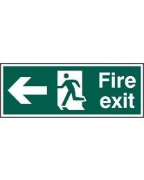 Fire exit (Man arrow left)