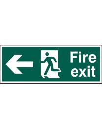 Fire exit (Man arrow left)