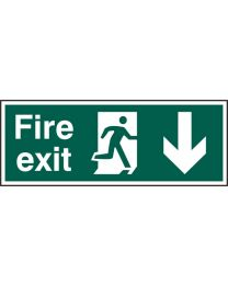 Fire exit (Man arrow down)