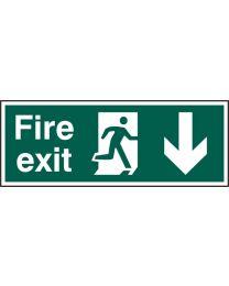 Fire exit (Man arrow down)