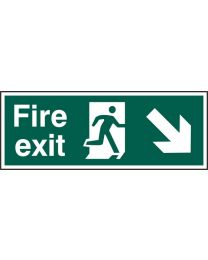 Fire exit (Man arrow down right)