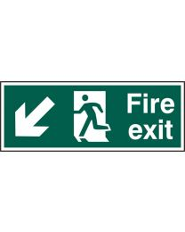 Fire exit (Man arrow down left)