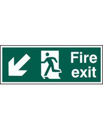 Fire exit (Man arrow down left)