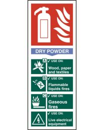 Fire Extinguisher Dry Sign (Self adhesive vinyl)
