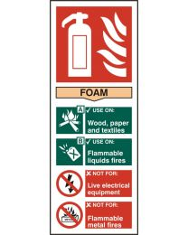 Fire Extinguisher - Foam (Self adhesive vinyl)