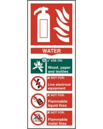 Fire Extinguisher - Water (Self adhesive vinyl)
