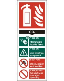 Fire Extinguisher - CO2 (Self adhesive vinyl)