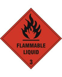 Flammable Liquid Safety Sign