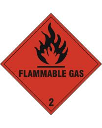 Flammable Gas Safety Sign
