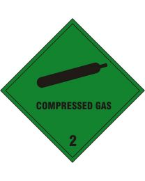 Compressed Gas Safety Sign