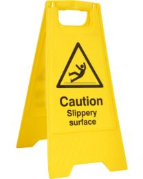 Caution Slippery Surface A-Board