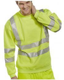 Yellow Hi-Visibility Sweatshirt